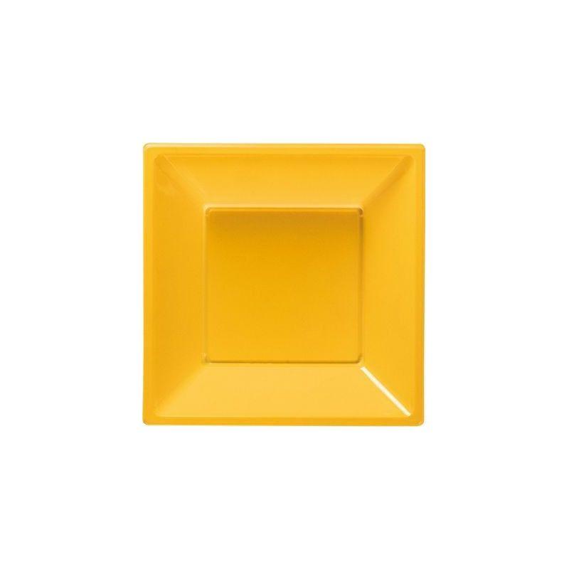 Déco festive, Assiettes plastiques creuses jaune, 120792, 3,90€