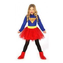 Déguisement super girl fille 5-6 ans Déguisements 83225