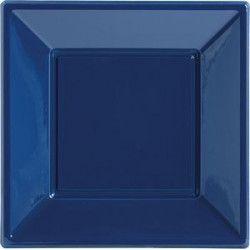 Déco festive, Assiettes plastiques bleu foncé 18 cm, 120821, 3,90€