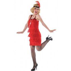 Déguisements, Déguisement charleston rouge femme taille M-L, 840560, 32,90€