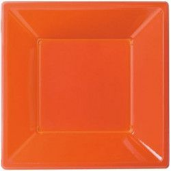 Déco festive, Assiettes plastiques creuses orange, 120852, 3,90€
