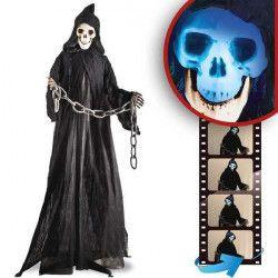 Squelette décoration halloween sonore et lumineux Déco festive 8418