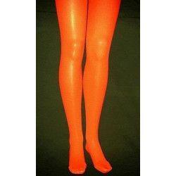 Collants opaque orange adulte taille S-M Accessoires de fête 842507304