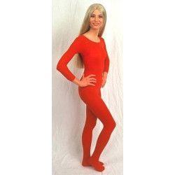 Body manches longues rouge adulte taille L-XL Accessoires de fête 842507902