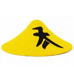 Chapeau chinois jaune Accessoires de fête 8430039