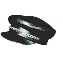 Rocker casquette noire Accessoires de fête 84320080