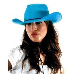 chapeau cowboy bleu brillant Accessoires de fête 843221683