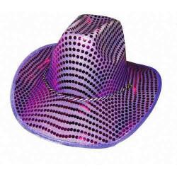 Chapeau de cowboy violet brillant Accessoires de fête 843262853