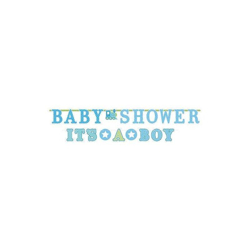 Guirlandes bienvenue pour un petit bébé garçon Déco festive 121462