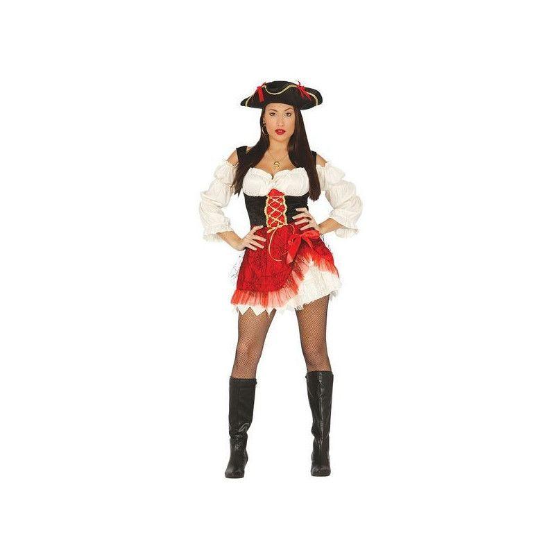 Déguisement pirate femme noir et rouge taille M Déguisements 84339