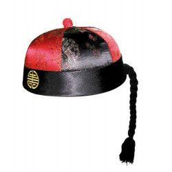 Chapeau mandarin avec nattes Accessoires de fête 8439052