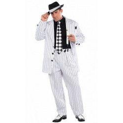 Déguisement gangster blanc homme taille ML Déguisements 844185