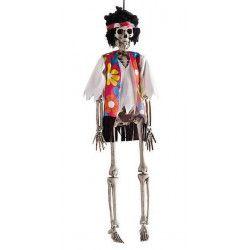 Squelette hippie à suspendre 40 cm Déco festive 8442