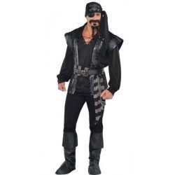 Déguisements, Déguisement pirate noir homme taille M-L, 844215-55, 59,90€