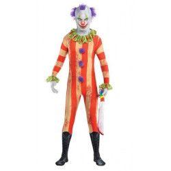 Déguisements, Déguisement clown terrifiant seconde peau homme taille L, 844493-55, 29,90€