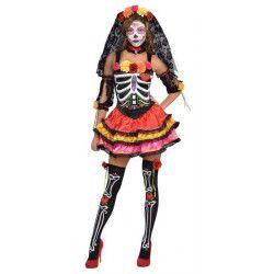 Déguisement Señorita Dia de los Muertos femme taille S Déguisements 844569-55