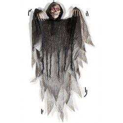Squelette 90 cm à suspendre avec son et lumière Déco festive 8450