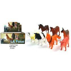 Animal de la ferme PVC 7-9 cm vendu par 56 Jouets et articles kermesse 12208-LOT