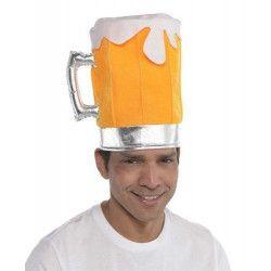 Accessoires de fête, Chapeau carnaval chope de bière, 846195, 6,90€
