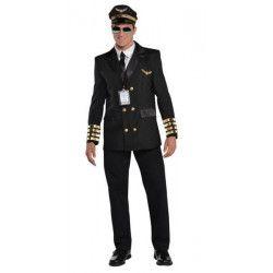 Déguisements, Déguisement pilote de ligne homme taille M, 846925-55, 44,90€