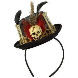 Serre-tête docteur sorcière vaudou avec chapeau Accessoires de fête 847586-55