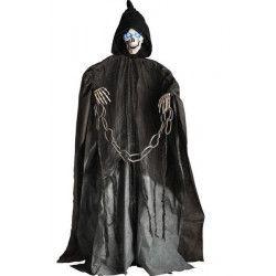 Squelette animé et lumineux avec chaine déco halloween Déco festive 8514