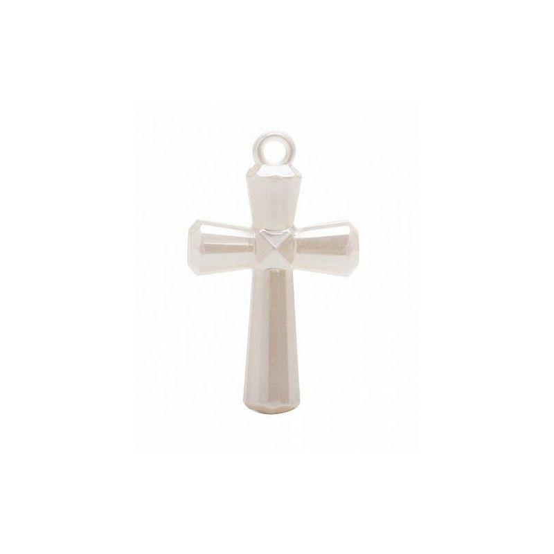 Bijou croix en nacre x 4 Déco festive 12261