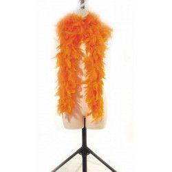Boa plumes orange 180 cm 45 grs Accessoires de fête 852500107