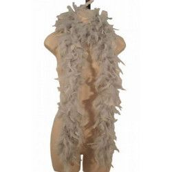 Accessoires de fête, Boa gris plumes perle 180 cm 45 grs, 852500117, 4,95€