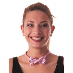 Noeud papillon sequin rose clair Accessoires de fête 85513