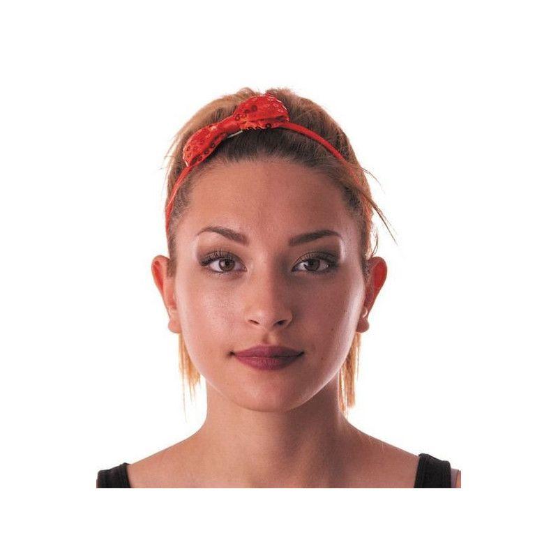 Accessoires de fête, Noeud papillon sequin rouge, 85514, 0,95€