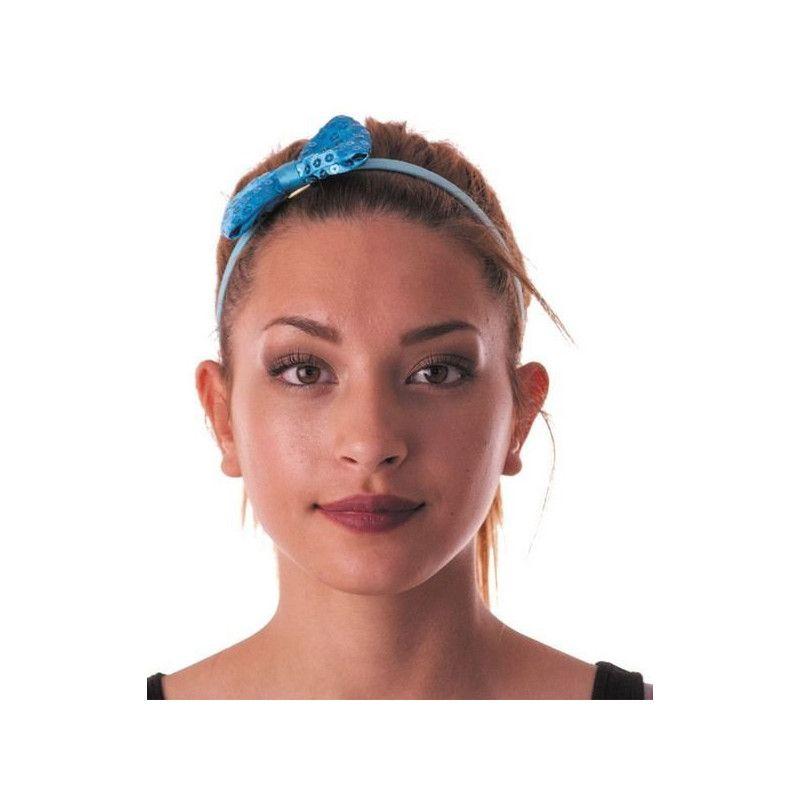 Accessoires de fête, Noeud papillon sequin turquoise, 85515, 0,95€