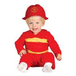 Déguisements, Déguisement pompier bébé 6-12 mois, 85564, 11,99€
