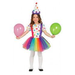 Déguisement clown à pois fille 5-6 ans Déguisements 85586