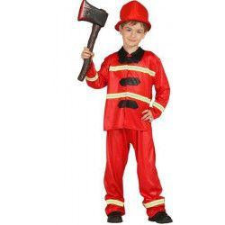 Déguisements, deguisement pompier rouge garcon 4-6 ans, 85589, 19,90€