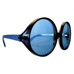 Lunettes hippy géantes bleues Accessoires de fête 8571768