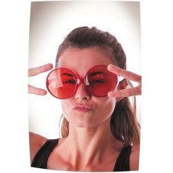 Lunettes hippie géantes rouges Accessoires de fête 8571769