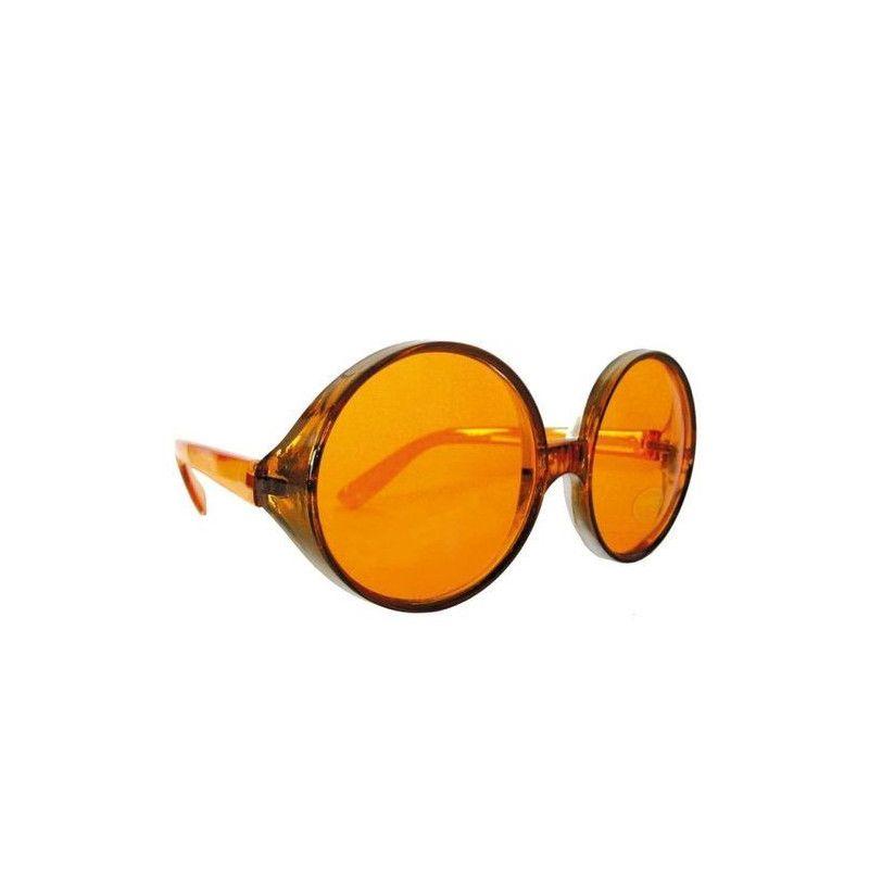 Lunettes hippie géantes orange Accessoires de fête 8571771