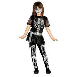 Déguisement squelette paillettes fille 7-9 ans Déguisements 85810