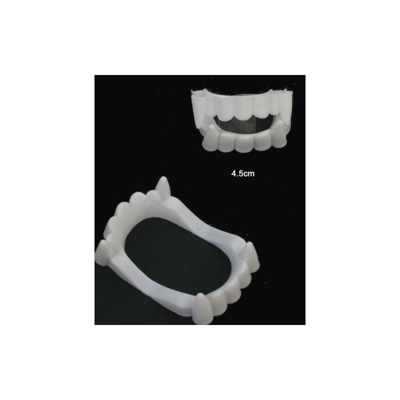 Faux dentier vampire enfant vendu par 48 Accessoires de fête 12413-LOT