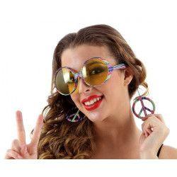 Accessoires de fête, Lunettes de soleil hippie, 12463, 4,50€
