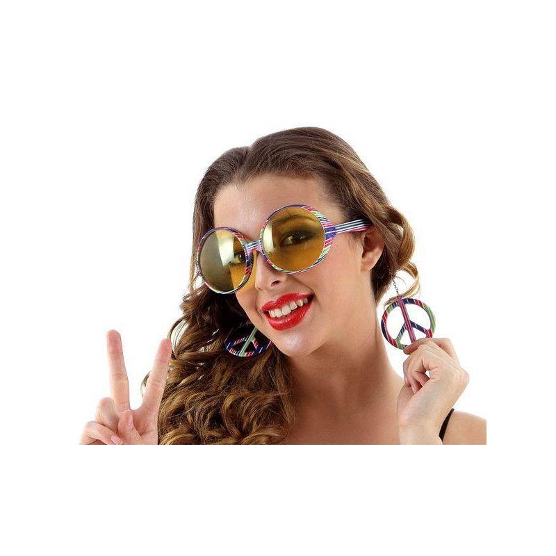 Lunettes de soleil hippie Accessoires de fête 12463