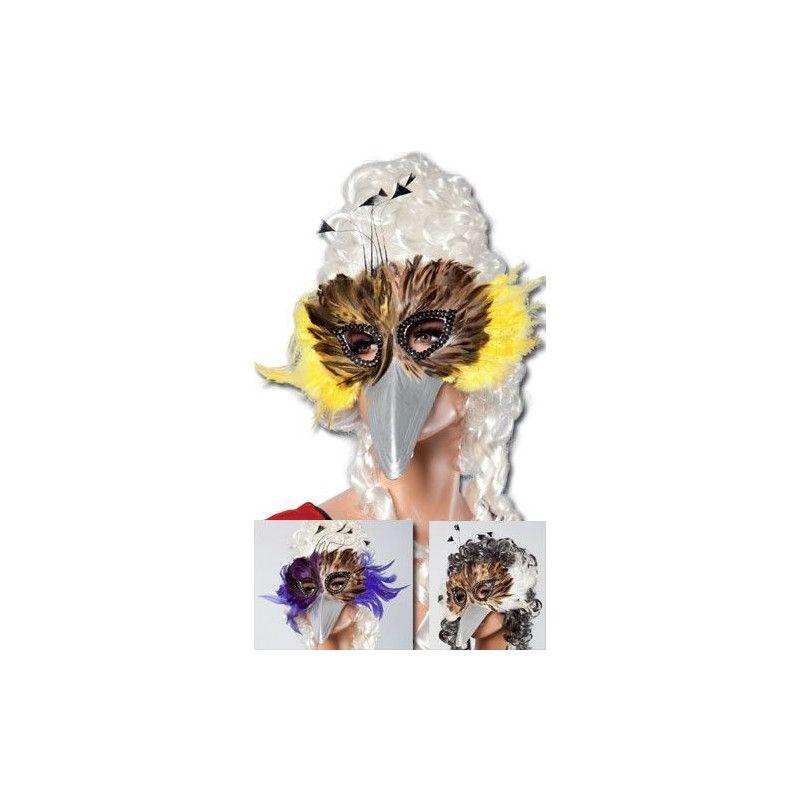 Loup bec d'oiseau à plumes Accessoires de fête 12470
