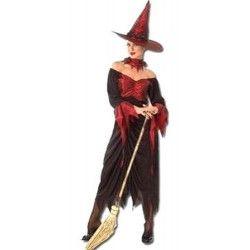 Costume adulte sorcière noire et rouge Déguisements 86094