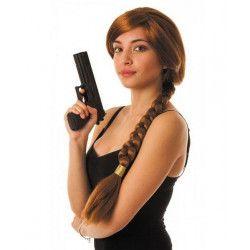 Perruque Lara avec tresse Accessoires de fête 86211