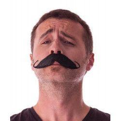 Moustache aristo noire Accessoires de fête 862201B