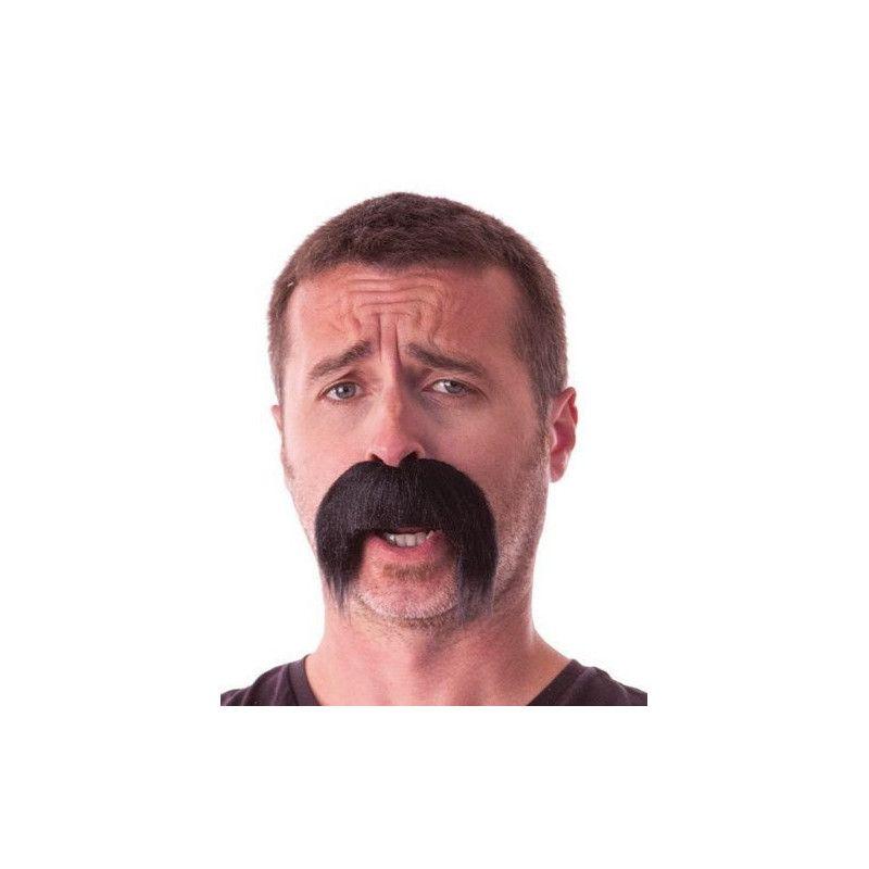 Moustache kéké noire retombante Accessoires de fête 862203B