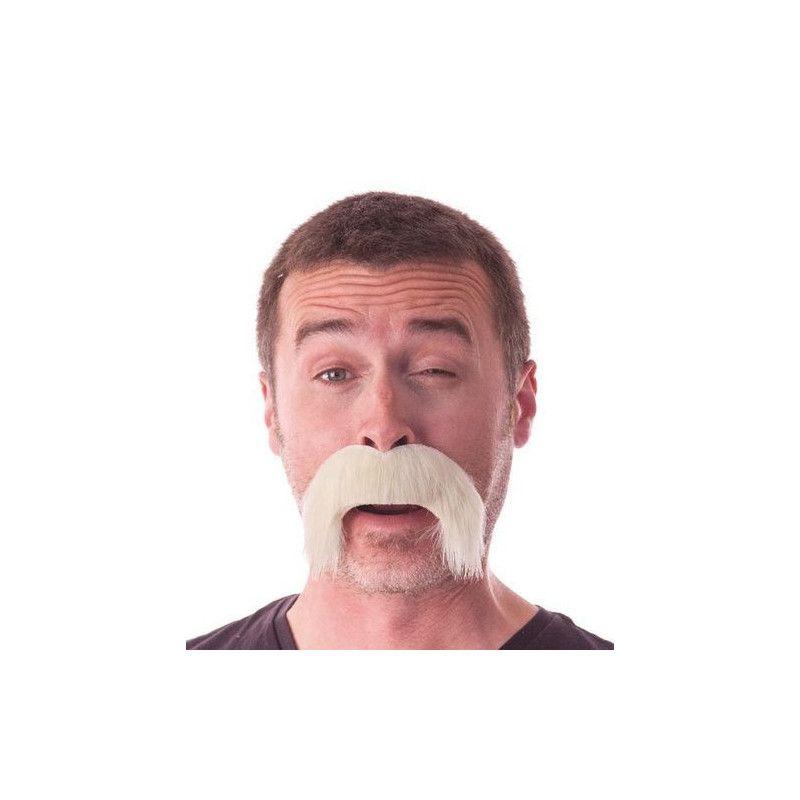 Moustache kéké blonde retombante Accessoires de fête 862203BL