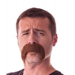 Moustache kéké marron retombante Accessoires de fête 862203BR