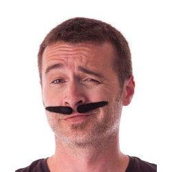 Moustache gangster noire Accessoires de fête 862206